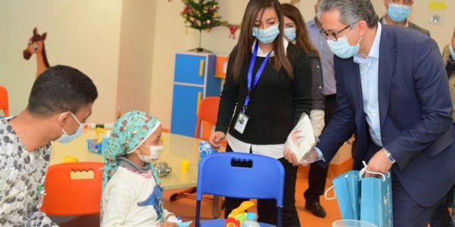 العنانى ومنار يشاركان فى افتتاح مستشفى شفا الأورمان لعلاج سرطان الأطفال1