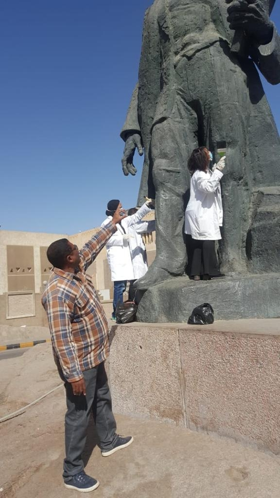 بدء حملة تنظيف وصيانة التماثيل بالميادين العامة فى جميع المحافظات1