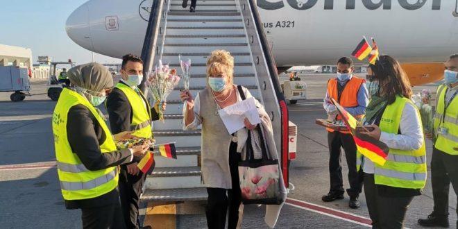 كوندور الألمانية تزيد رحلاتها لمصر من مارس والممر الأمن يشجع عودة السياحة