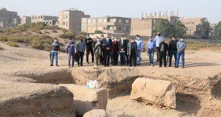 الداودي يتفقد أعمال البعثة الأثرية الفرنسية بمدينة قفط العريقة
