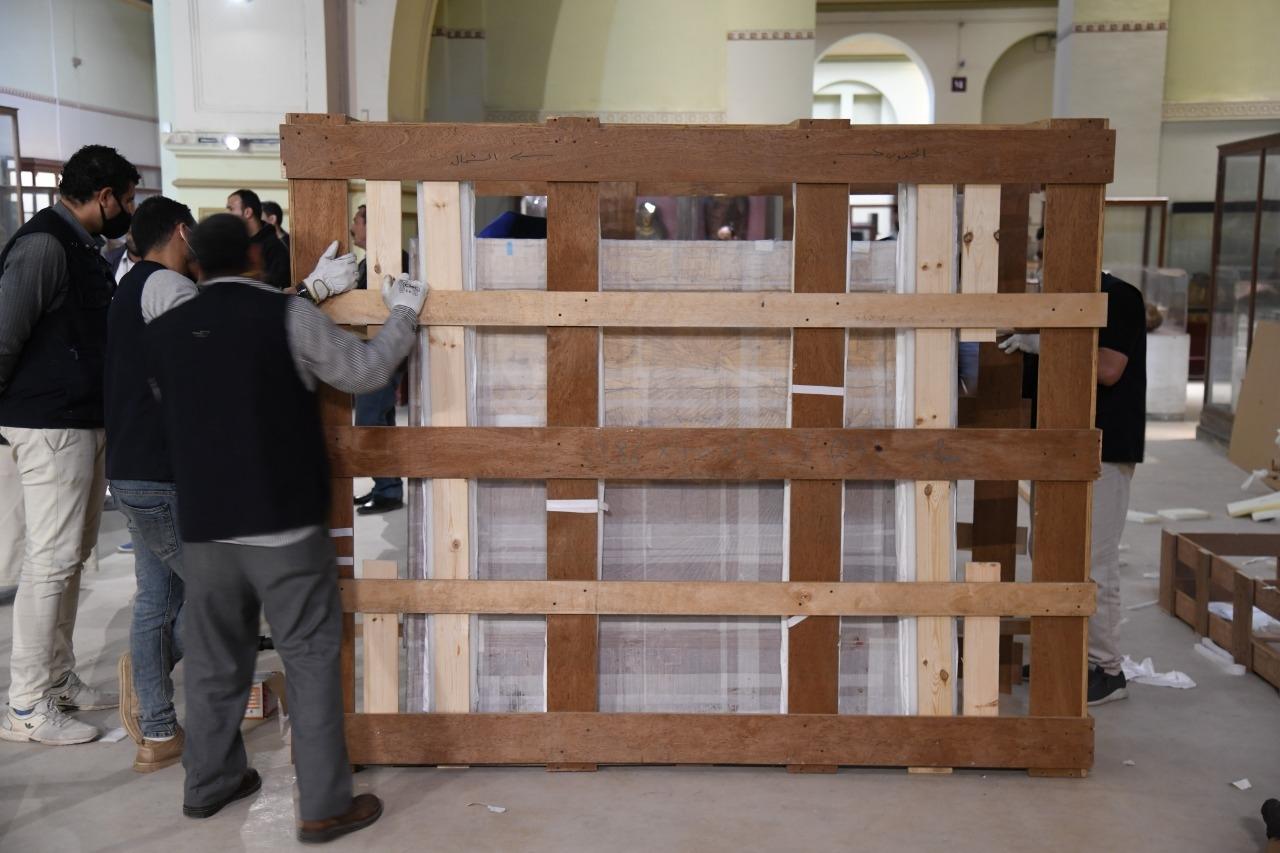 المتحف الكبير يستقبل المقصورة الرابعة من مقاصير الملك الذهبي توت عنخ آمون
