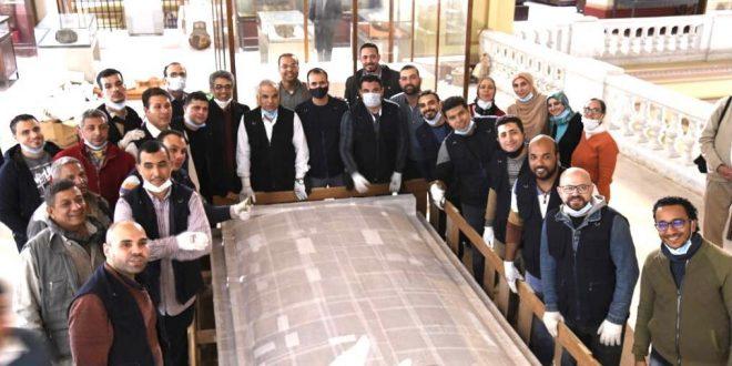 المتحف الكبير يستقبل المقصورة الرابعة من مقاصير الملك الذهبي توت عنخ آمون1