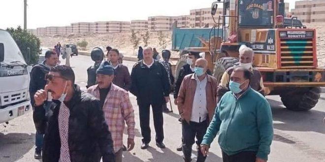 جهاز مدينة أكتوبر ينفذ حملة لإزالة الإشغالات والتعديات بمنطقة إسكان دهشور
