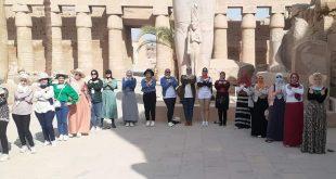 قطار الشباب انطلق إلى الأقصر .. الفوج الأول زار الكرنك ومعبد الدير البحري3