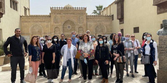 كواليس زيارة زوجات سفراء 20 دولة بالعالم إلى منطقة مجمع الأديان6