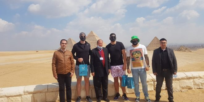 نجوم الدوري الأمريكي لكرة القدم يواصلون زيارتهم لمصر ببرنامج حافل