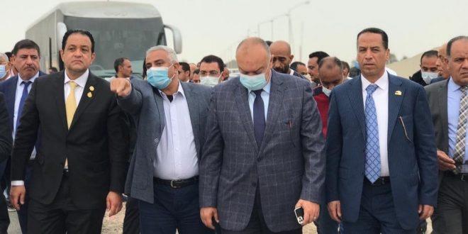وفد من لجنة النقل بالنواب يتفقد تطوير الطرق بمدينة برج العرب الجديدة