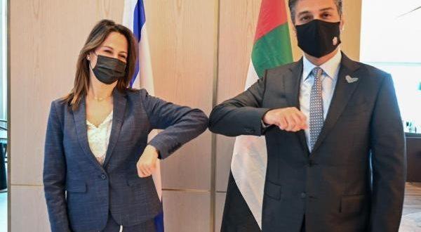 مباحثات السفير الاماراتي ووزيرة السياحة الاسرائيلية تتركز حول زيادة الحركة