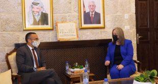 الحفاظ على التراث الفلسطيني محور مباحثات وزيرة السياحة مع القنصل الايطالي