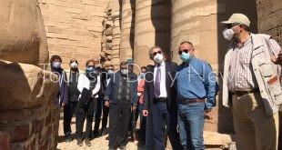 """""""العليا للمركز المصري الفرنسي"""" تناقش خطة أعمال تطوير معابد الكرنك بالأقصر"""
