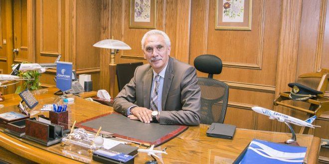 الطيار حسن منير مساعداً لرئيس مجلس إدارة الشركة القابضة لمصر للطيران