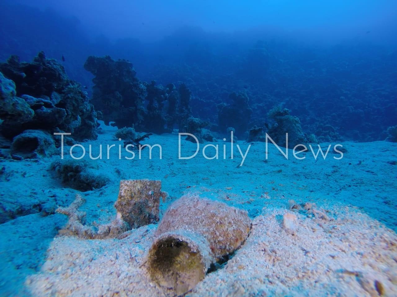 العثور على مقدمة السفينة الغارقة بجزيرة سعدانة بالبحر الأحمر3