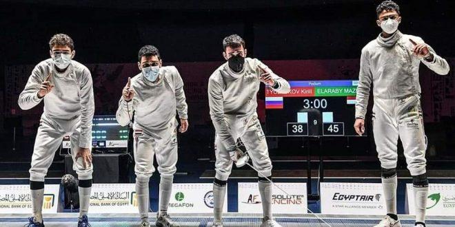 مصر للطيران تهنئ منتخب مصر للسلاح لحصوله على ذهبية بطولة العالم للشباب
