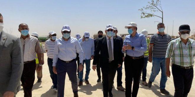 الجزار يتفقد مشروع الحدائق المركزية ومحور محمد بن زايد بالعاصمة الإدارية