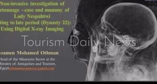 مؤمن عثمان يلقى محاضرة بجامعة سويسرية عن الفحوصات العلمية لمومياء نسبا حتوي2