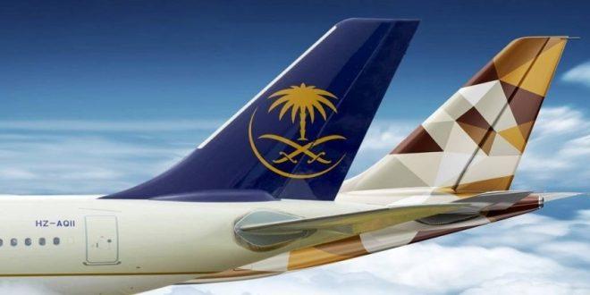 الاتحاد للطيران والخطوط السعودية توقعان اتفاقية اكتساب واستبدال الأميال