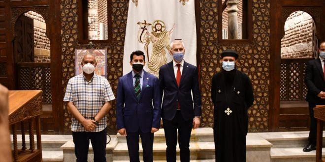 وزير الشباب والرياضة الروسي يزور مجمع الأديان للترويج السياحي لمصر