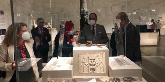 وفدان من الوكالة الجامعية الفرنكوفونية والأنوكا يزوران المتحف القومي للحضارة