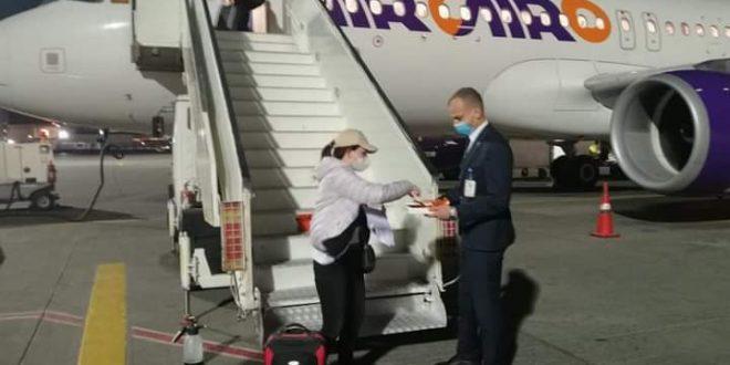 وصول أولي رحلات إير كايرو من فرانكفورت إلي مطار الغردقة