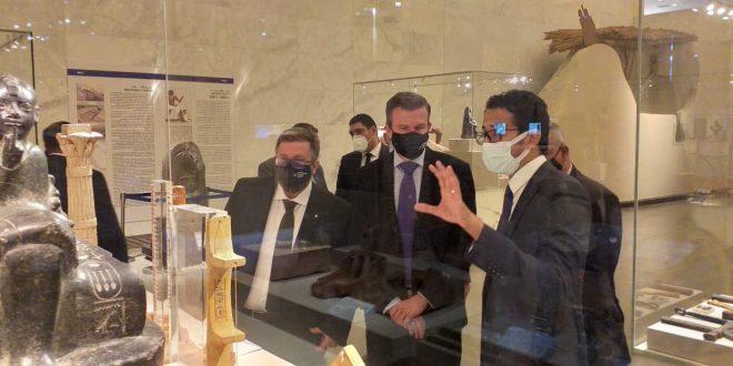 رئيس الوكالة الدولية لمكافحة المنشطات (وادا) يزور المتحف القومي للحضارة