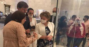 نائبة وزير الثقافة الروسي تزور المتحف القومي للحضارة المصرية بالفسطاط