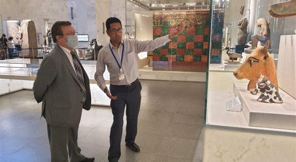 سفير أوكرانيا في المتحف القومى للحضارة : مصر عاشت دائما فى وجدان الجميع