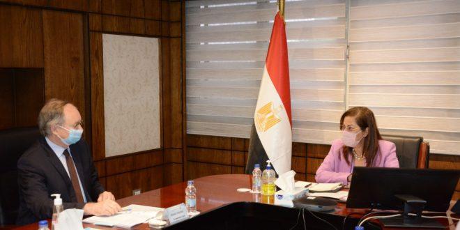وزيرة التخطيط تستعرض مع سفير الاتحاد الأوروبي آثار جائحة كورونا الاقتصادية