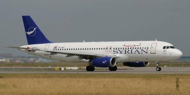 الطيران السوري يستأنف رحلاته الجوية إلى أبوظبي الأربعاء المقبل