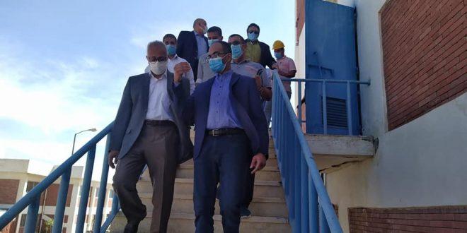 """مسئولو """"الإسكان"""" يتفقدون مشروعات المرافق بمدينة النوبارية الجديدة"""