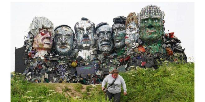 """تماثيل من """"النفايات الإلكترونية"""" لقادة مجموعة الدول السبع"""