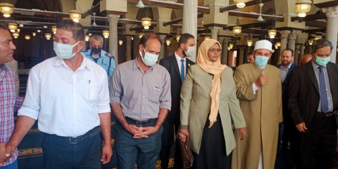 وزيرة الثقافة والتنمية المعرفية الليبية مبروكة توجى تزور جامع الأزهر
