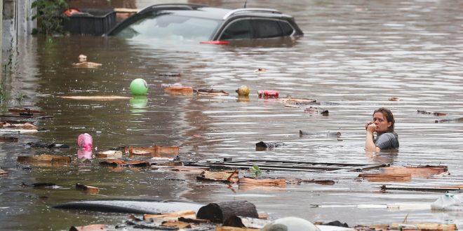 فيضانات الموت تقتل 108 أوروبيين.. وميركل : الحجم الحقيقي للكارثة غير معروف