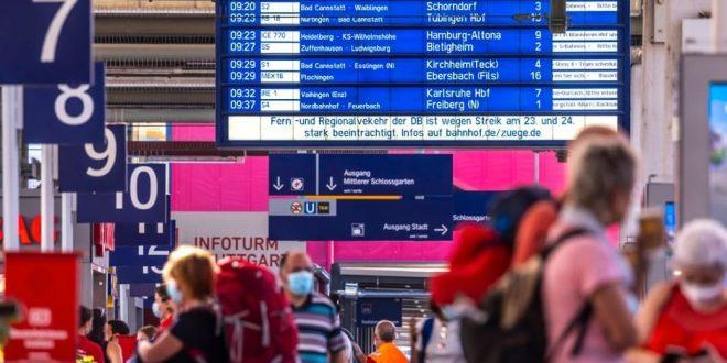 توقف حركة الشحن والمواصلات لأضراب سائقين القطارات بألمانيا