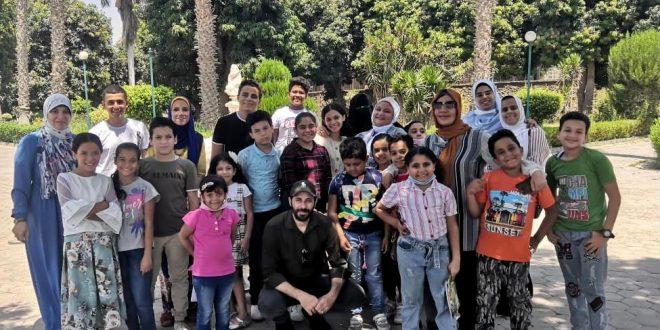 السياحة تنظم جولة 20 طفل من ذوي الهمم لمتحف ركن الفاروق بحلوان