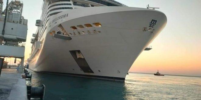 وصول ثاني رحلة سياحية للباخرة بليسما لميناء سفاجا .. علي متنها 915 سائحا
