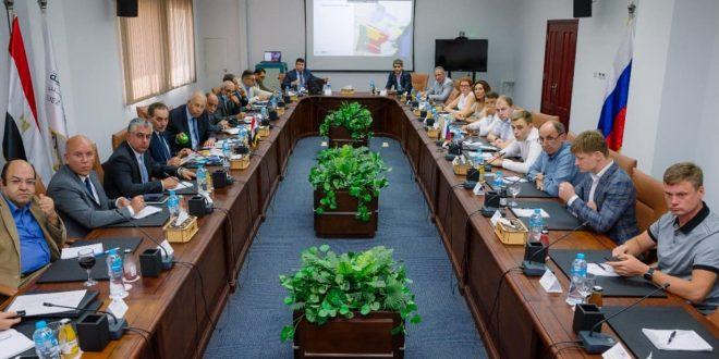 وفد روسي يزور موقع مشروع المنطقة الصناعية الروسية بالسخنة