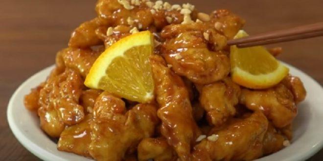 الأكلات الأسيوية تغزو مطابخ العالم طريقة عمل الدجاج المقرمش بصوص البرتقال