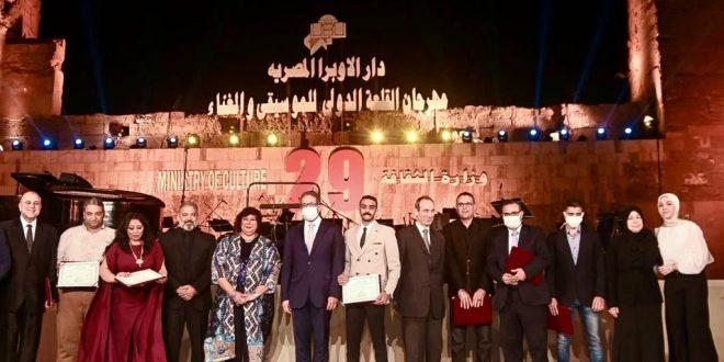 العناني يشارك في انطلاق الدورة 29 لمهرجان القلعة الدولى للموسيقى والغناء1