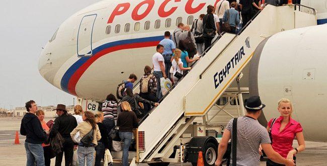 روسيا تزيد عدد الرحلات السياحية المنتظمة لمصر إلي 15 طائرة أسبوعياً