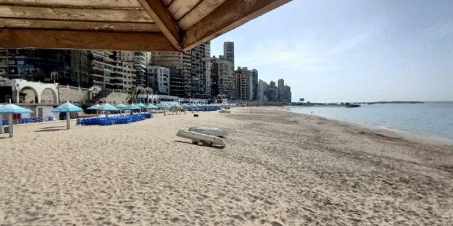 شاطئ جديد في الإسكندرية يدخل الخدمة وتقنين وضع اجراءات التأجير