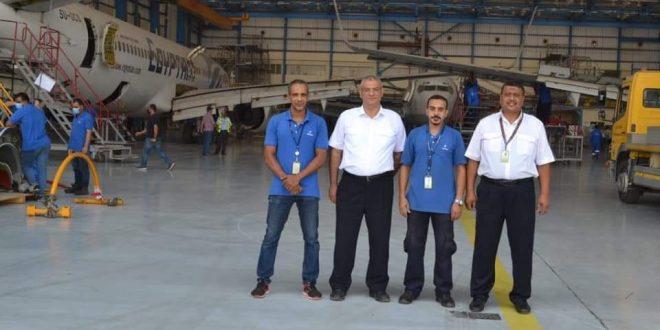 طاقم مصر للطيران للصيانة يحقق إنجازاً جديداً لطائرة الخطوط الجوية العراقية
