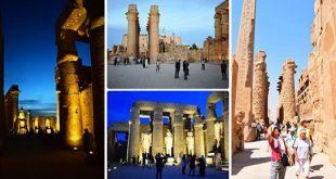 90 دقيقة في معبد الكرنك وصافرات بفنادق الأقصر احتفالا بيوم السياحة العالمي
