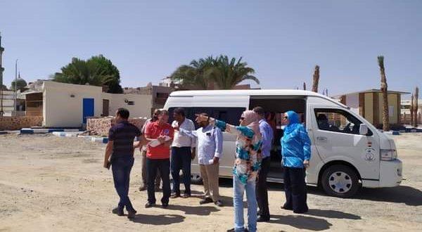لجنة من وزارة السياحة تتابع تنفيذ تطوير شاطئ وكورنيش القصير