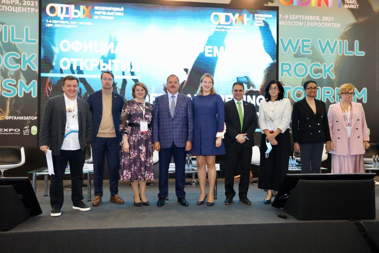 جناح مصر بمعرض OTDYKH Leisure 2021 الدولي للسياحة والسفر  بموسكو