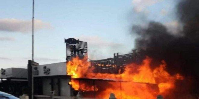 حريق ضخم في مطاعم بمجمع ميراج بمنطقة جليم على كورنيش الإسكندرية