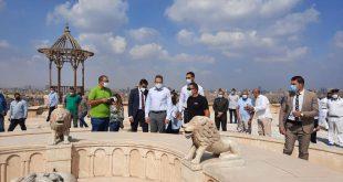 وزير السياحة يتفقد ترميم قلعة صلاح الدين وجامع محمد علي وتطوير الخدمات