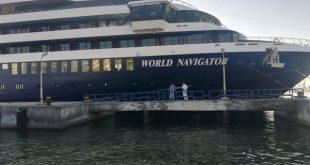 ميناء بورسعيد يستقبل السفينة السياحية WORLD NAVIGATOR على متنها 119 سائحا