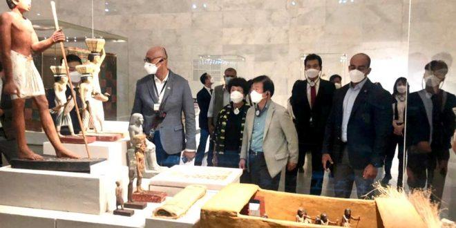 رئيس الجمعية الوطنية بكوريا يزور المتحف القومي للحضارة ومجمع الاديان