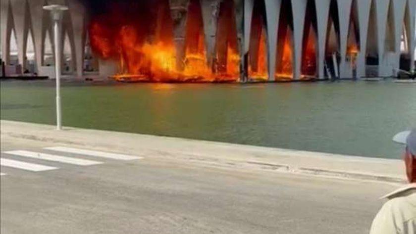 النيران تلتهم قاعة افتتاح مهرجان الجونة السينمائي قبل بدء أعماله غداً 1