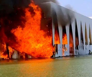 النيران تلتهم قاعة افتتاح مهرجان الجونة السينمائي قبل بدء أعماله غداً